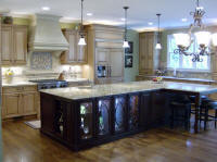 The completed kitchen.