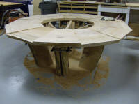 This twelve-sided, live-edge table will be 7' across, if I ever find the time to complete it.