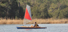My decked canoe in action at ShopBotter Graham Byrnes' 'messabout', Oriental NC.
