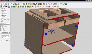 A view from e-Cabinet Systems, showing an assembly in Cabinet Editor view, compliments of Gary Campbell