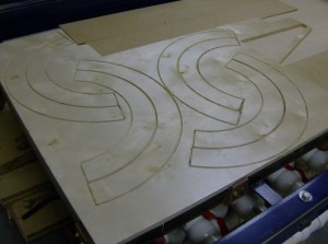 how to make a curved plywood shield