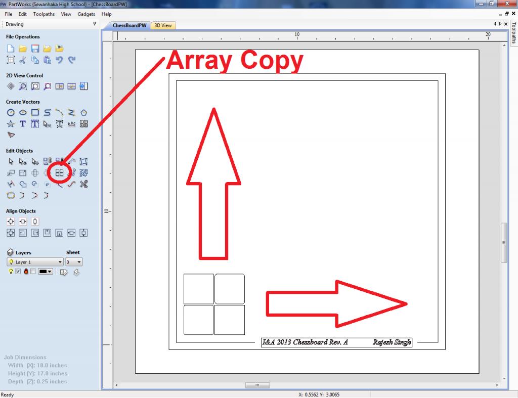 Start of array