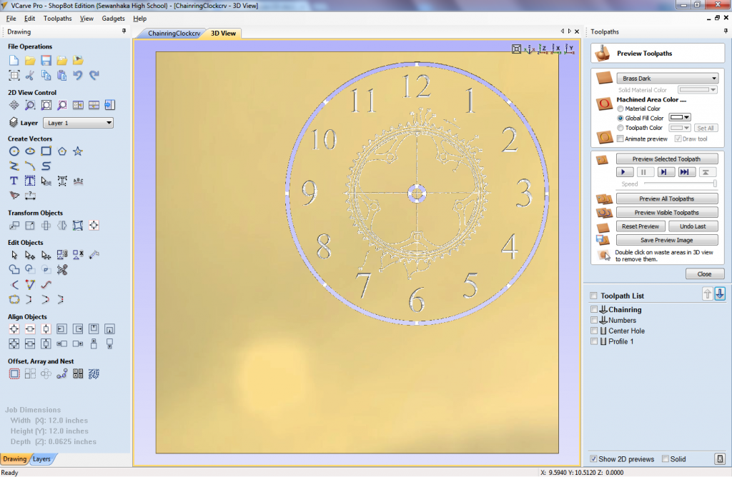 Clock design preview