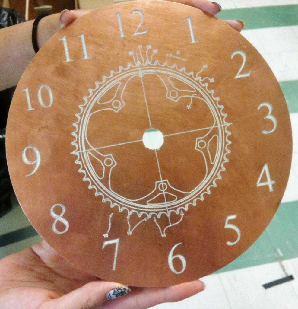 Finished clockface
