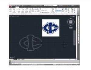 AUTOCAD Drawing of schools logo