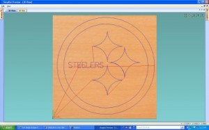"""Here is an example of the 3 1/2"""" coaster that I let my CAD Students do..  Let them draw geometry in CAD and machine it out..."""