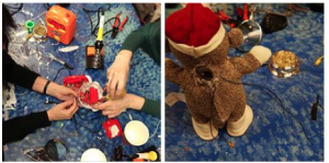 Occupational therapists, parents and their disabled kids do some hands-on hacking for the holidays
