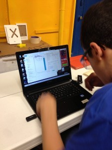 Matthew uses ShopBot software to control the ShopBot Buddy