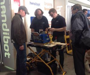 Handibot Tool cutting custom molding for builders