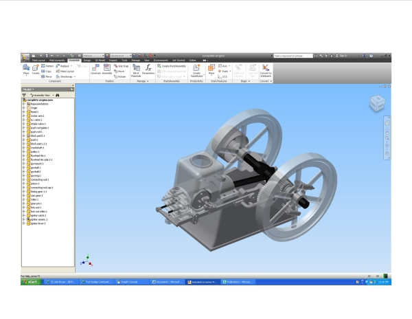Model student made using Autodesk Inventor for this project.