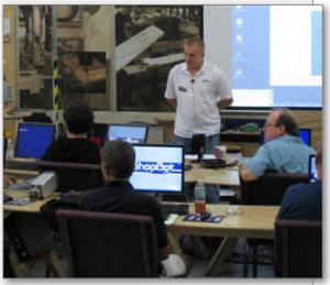 Training at ShopBot Tools in Durham, North Carolina. Training is available in person or online.