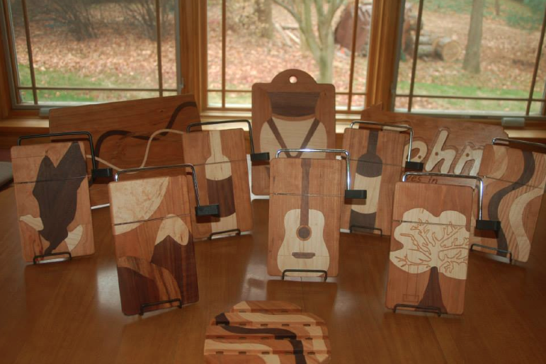 KNC Woodcrafters has a growing line of cutting boards and cheese slicers