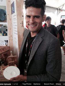 Gustavo Bonet, architect and designer. He helped out at the ShopBot booth at this year's Maker Faire NYC