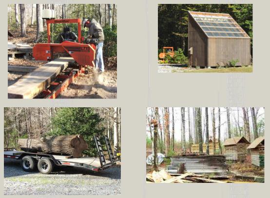 lumber sawmill and solar lumber kiln