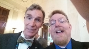 "That's Ben Harris grabbing a selfie with Bill Nye ""The Science Guy"" at the first ever White House Maker Faire, Spring 2014"