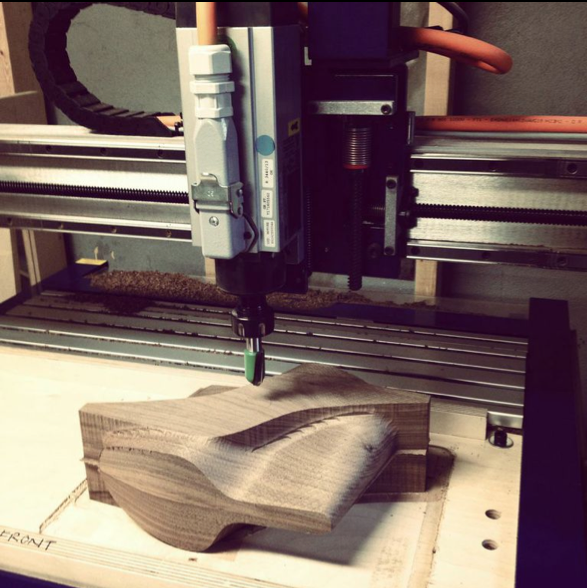 Machining the walnut outsole for the Tlou sandal