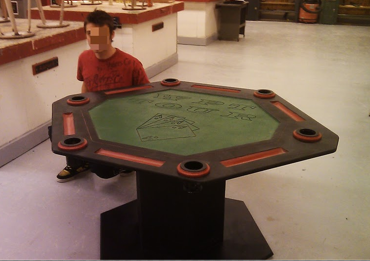 boy w game table