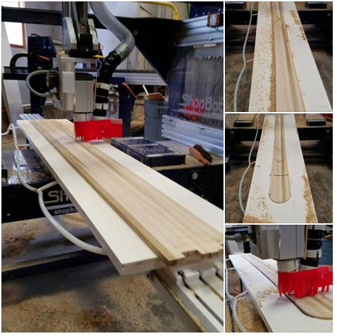 5-axis of poplar skis