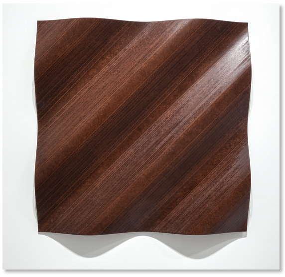 Wall Relief (wave diagonal concave) 2014 Masonite 30 x 30 inches