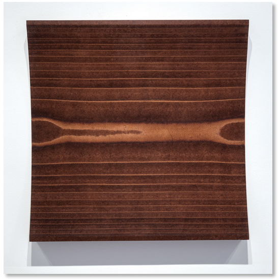 Erwin Redl Wall Relief (cylinder concave) 2014 Masonite 30 x 30 inches