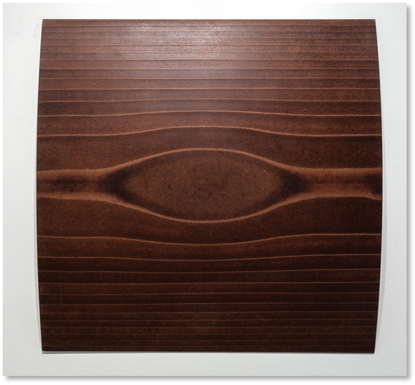 Wall Relief (cylinder convex) 2014 Masonite 30 x 30 inches