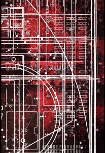 close inset of CNC Palimpsest