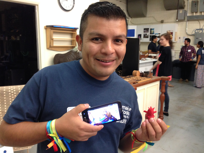 Henry Sanchez from Lima runs a FabLab that's focused on introducing the world of digital fabrication to kids — very young kids aged 4 through 12. The website is www.n-evo.com.  Henry says that the parents naturally become very excited about learning more when they see what their children are learning and doing.