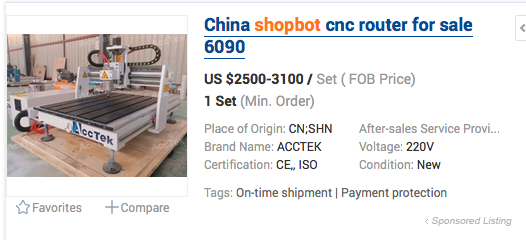 As seen on Alibaba.com. This is most definitely NOT a ShopBot® tool.