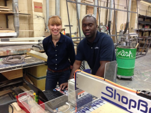 ShopBot's Thea Eck and Al Nyonteh were onhand to teach at the USITT classes.