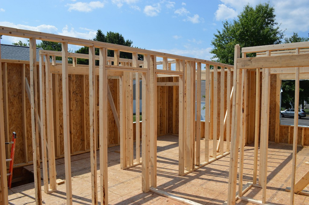 8. The interior walls of this two-story home were erected in 8 hours by a few inexperienced volunteers