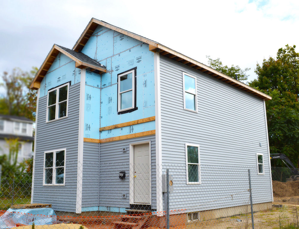 Habitat for Humanity home with Homebuilt framing