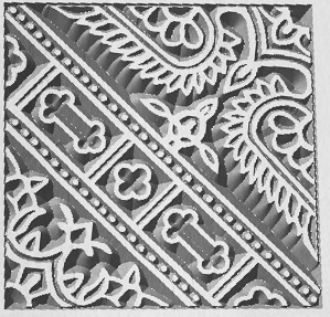 Design file used to recreate the design used on an antique wooden printing block