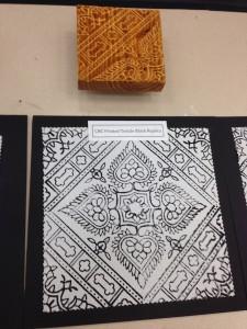 Printing using a ShopBot CNC'd wooden block