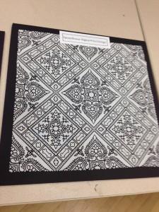Pattern as printed by Spoonflower