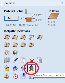 create merged toolpath