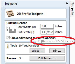 new calculated thickness