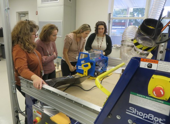 Teachers being introduced to the Handibot® Smart Power Tool