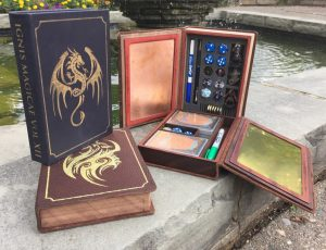 Spellbooks from their second Kickstarter campaign in 2015