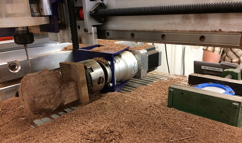 desktop max machining a walnut 3d scanned bust
