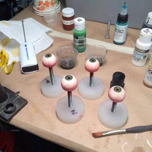 Dan Thomson - painting eye balls