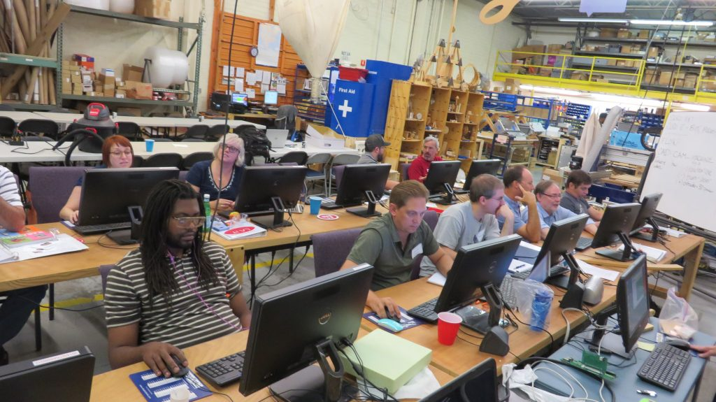 digital fabrication education workshop at shopbot tools