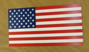 CNC carved american flag