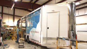 tulsa mobile fab lab being wrapped
