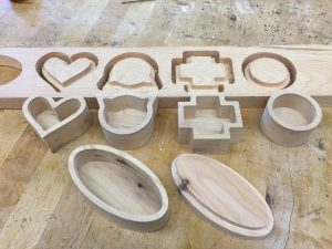 custom shaped digital fabrication wooden boxes