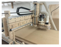 a custom cnc router made of wood