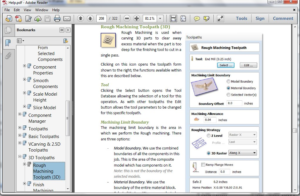 3d roughing help in adobe reader