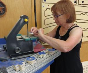 woman sanding