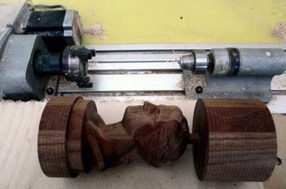 carving with rotary indexer