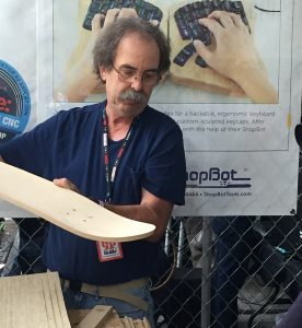 bill young making skateboards at world maker faire 16