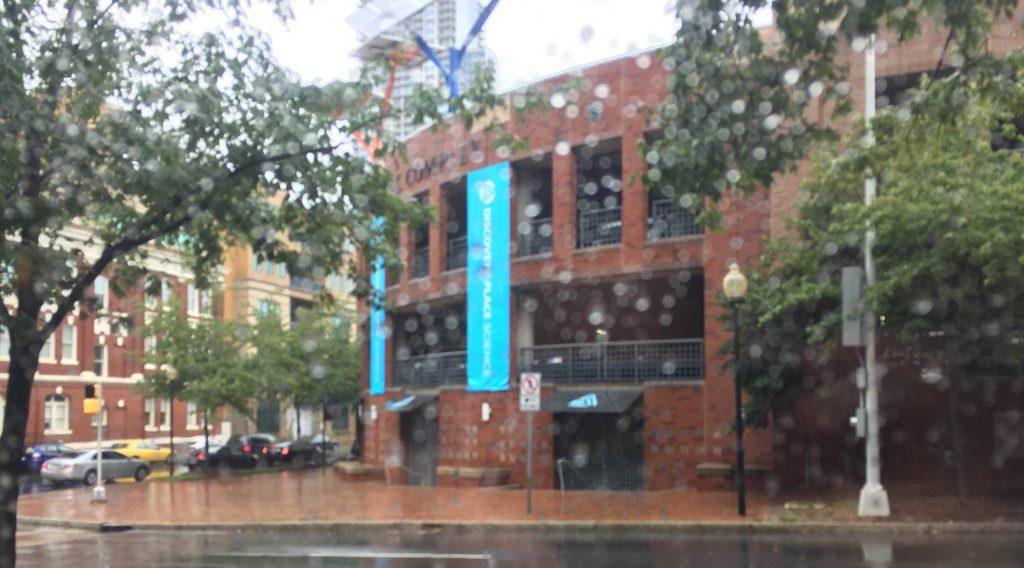 rain at charlotte world maker faire